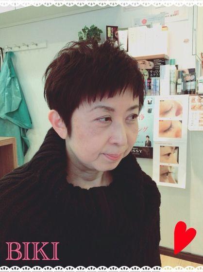 ベリーショートグラデーション | 天王寺・上本町・谷町の美容室 Hair Yielding BIKIのヘアスタイル | Rasysa(らしさ)