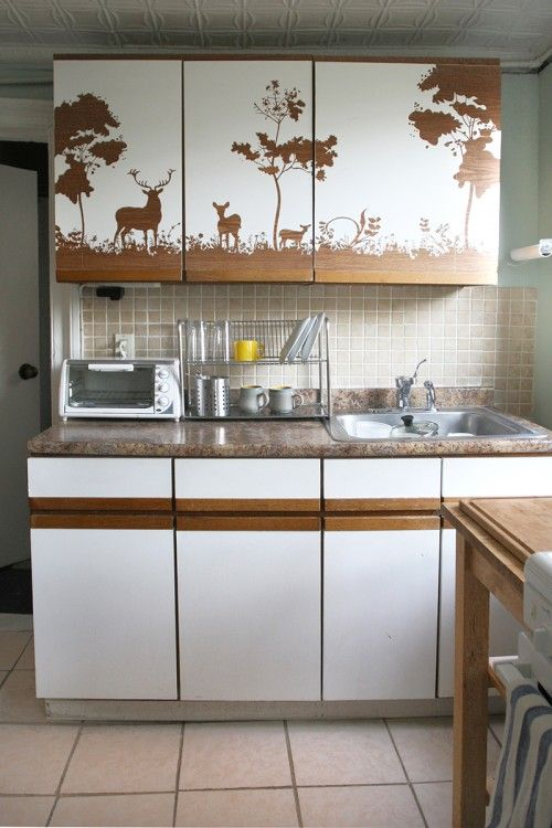 Best 25 contact paper cabinets ideas on pinterest for Kitchen colors with white cabinets with yosemite sticker