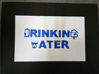logo design : Drinking water logo