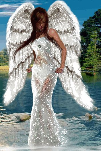 Loving Angel.gif~ Whether I fly with Angels, fall with dust, thy hands made both, and I am there;  Thy power and love, my love and trust make one place everywhere..            ^i^《》 ^i^