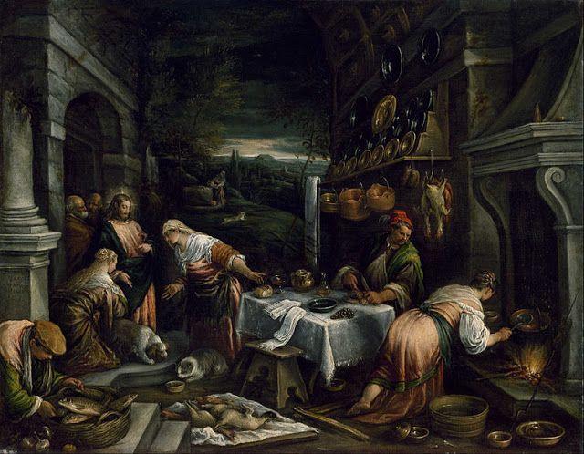 Ο Χριστός στο σπίτι της Μαρίας, Μάρθα και Λαζάρου (1577) Μουσείο Καλών Τεχνών Χιούστον