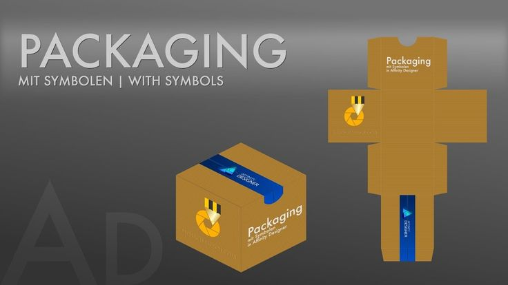 #16 Affinity Designer - Packaging mit Symbolen [ DEUTSCH ] | Packaging with symbols [ GERMAN ]