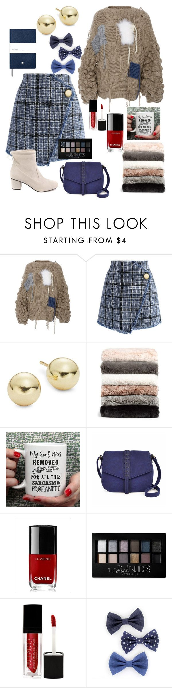 """sweater& skirt"" by natalisdomini ❤ liked on Polyvore featuring Tuinch, Chicwish, Lord & Taylor, Nordstrom, A.N.A, Chanel, Maybelline and Montblanc"