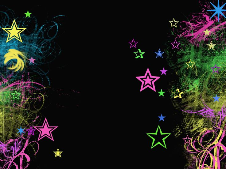 Neon Rainbow Stars Download