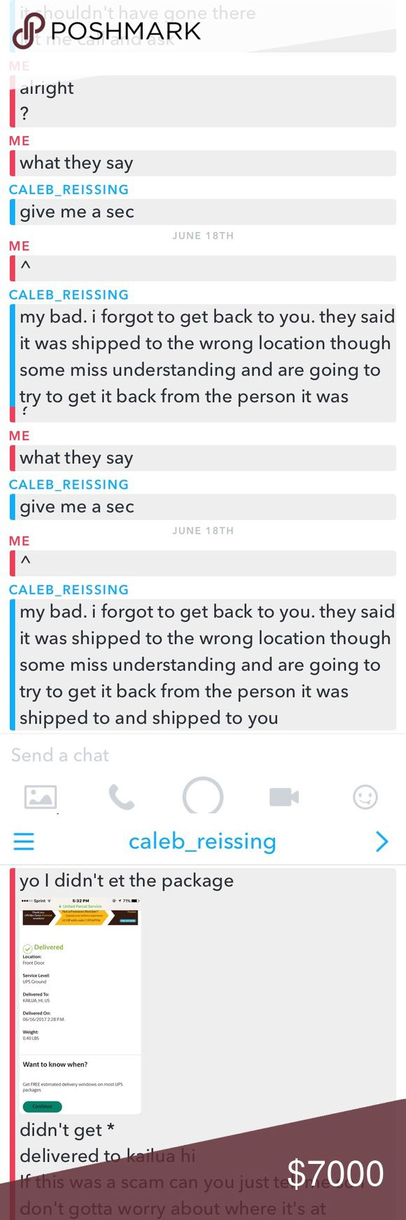 ‼️‼️‼️SCAMMER‼️‼️‼️ This guy wanted to trade sneakers and recieved my shoes while he delivered my package to a whole other address, probably just another tracking number ‼️HE SCAMMED 106$ pair of sneakers from me‼️‼️‼️ Jordan Shoes Sneakers