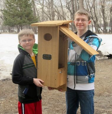 Wood Duck nest box - visit http://www.woodducksociety.com/duckhouse.htm for plans