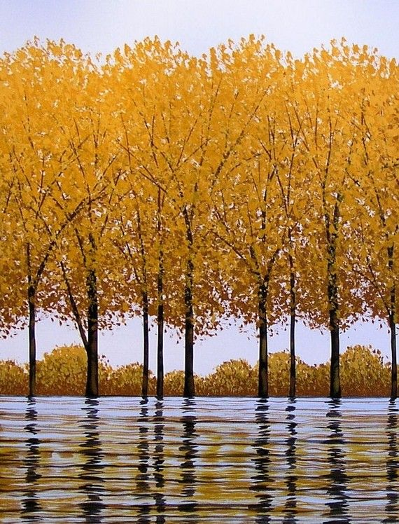.Gulf Air, Autumn Leaves, Yellow Trees, Art Cards, Beautiful, Mothers Nature, Nature Design, Fall Trees, Yellow Fall Tree