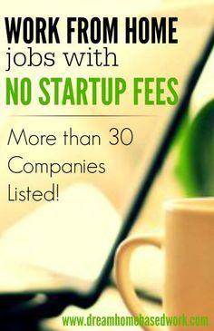 Legit WorkatHome Jobs  No Fees