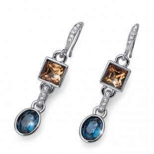 Oliver Weber Women label colourful earrings with Swarovski Crystals