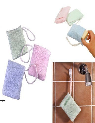 TERRY CLOTH SOAP POUCH SPONGES - TURN SOAP SCRAPS INTO LATHER! (SET OF 3) by SOAP POUCHES. $11.75. Terrycloth Sponges with Soap Pouches- 3 Pack Turn Sraps of Pure Soap into a Lathering Sponge ! Don't throw away those tiny thin bits of pure soap there's still life left in 'em. Just slip the scraps into the pocket of this new terry cloth soap saver sponge and enjoy the convenience of a self-lathering bath sponge. The soft terry cloth pocket can hold several scraps a...