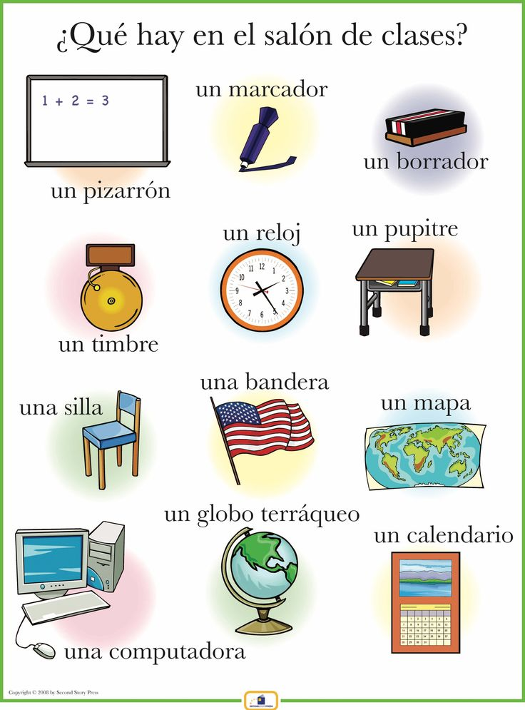 Introduce classroom items with this colorful 18 x 24 in. poster that includes a free guide with teaching suggestions and practice worksheets.