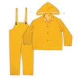 Men's 3-pc. PVC/Polyester Rainsuit / Worksuit
