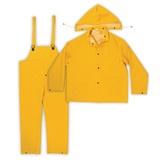 Men's 3-pc. PVC/Polyester Rainsuit / Worksuit