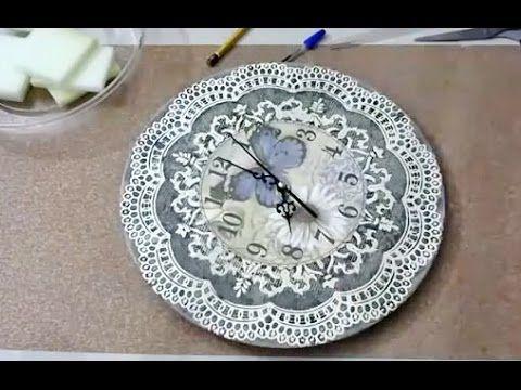 Декупаж ✿ Часы ✿ Мастер-класс Татьяны Чимбирь - YouTube