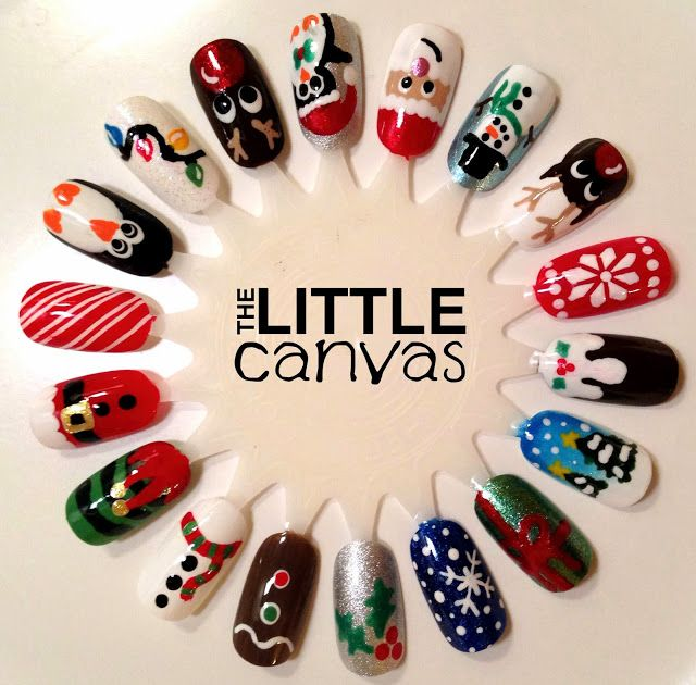 Christmas Nail Art Wheel! - The Little Canvas - more at megacutie.co.uk