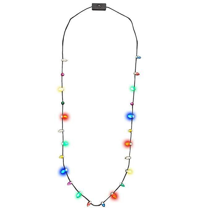 Glowmaker Light Up Led Christmas Holiday Mini Bulb Necklace Christmas Holidays Led Christmas Lights Holiday