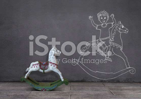 Dream of Rocking Horse: Playing with Kid (royalty-free stock photo) © mgkaya