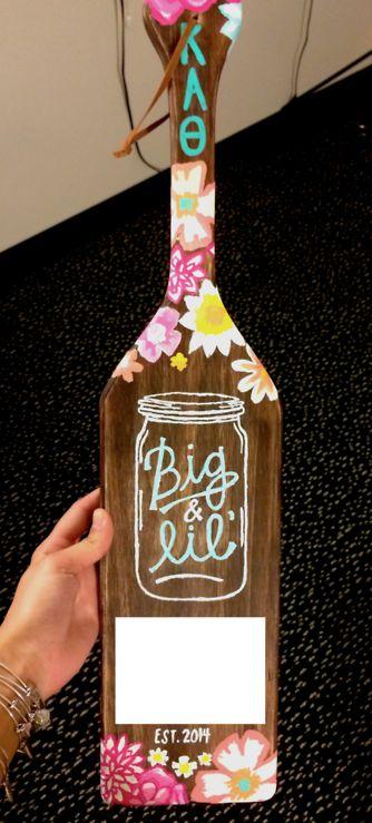 Big & Lil' Mason Jar Paddle {Kappa Alpha Theta, Cornell University} submitted by:Caroline