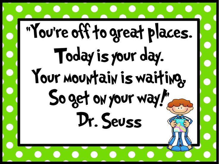 Teaching Blog Addict: Dr. Seuss Quote