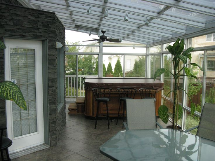 Hot tub in a sunroom is a common request. Will it heat the room, no. Most hot tubs are designed to be outside in -35 weather so they are well insulated. If you put one in a 3 season room, expect condensation your windows. It wont hurt the room, but just expect it. If you put it in a 4 season room, plan for it. A system to deal with the extra moisture will help keep your windows clear. Your contractor should know what you need