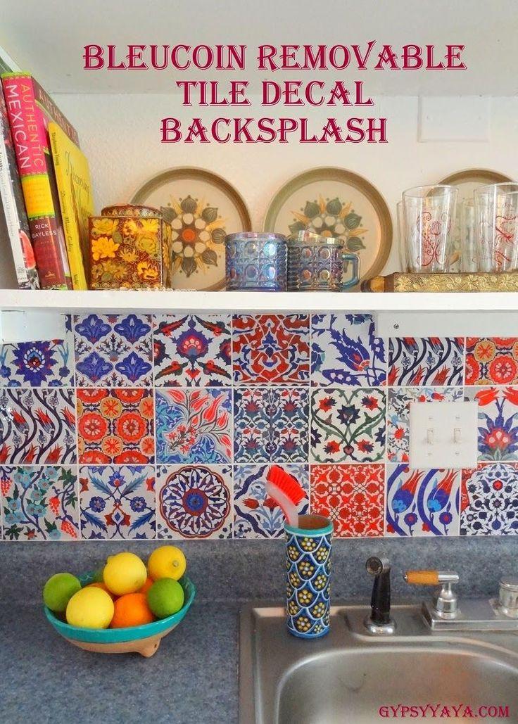 GypsyYaya-Removable Turkish Tile Decal Backsplash {Before & After}
