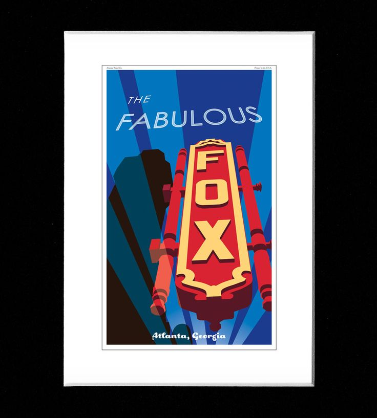 Fox Theatre Print by ATL Vintage Print on Scoutmob Shoppe