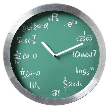 A maybe for those studying math?    Mathematical Expressions Clock