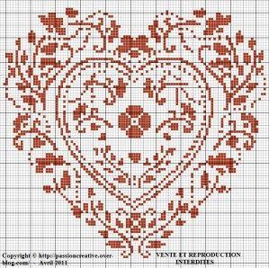 Bonsoir, Allez, je vous offre une deuxième grille aujourd'hui. Comment trouvez-vous mon coeur ? Pour l'imprimer, cliquez sur l'image. Mille merci par avance pour les photos de vos créations à partir de...