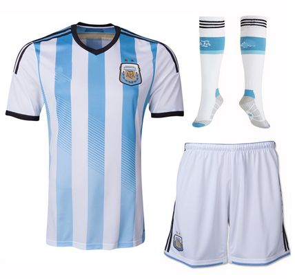Argentina national team 2014 HOME SOCCER JERSEY WHOLE KIT [1402291606]