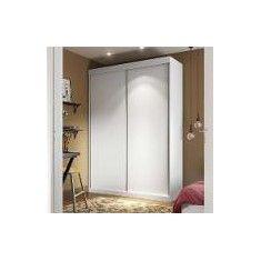 Guarda-Roupa 2 Portas De Correr Ravena 100 Mdf Sem Espelho Branco - Manto Móveis Americanas