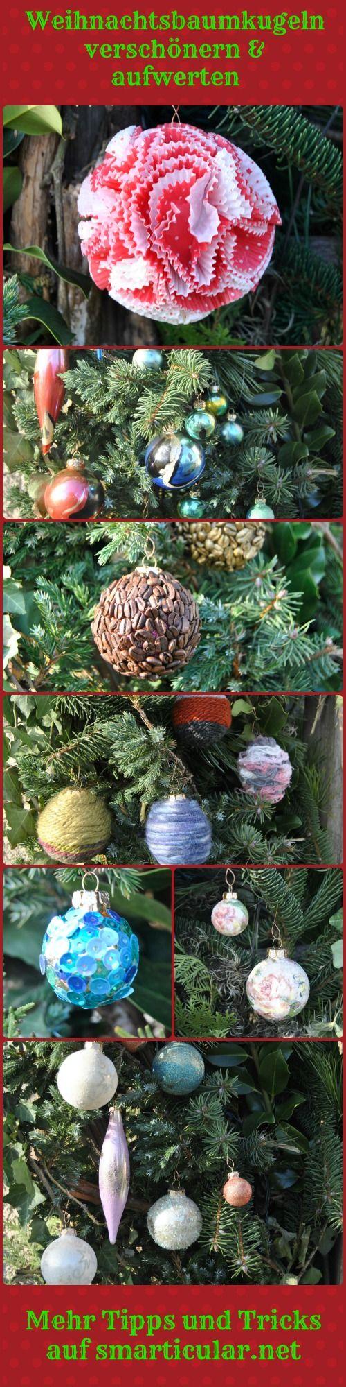 weihnachtsbaumkugeln aufwerten statt wegwerfen 7 ideen re und upcycling pinterest. Black Bedroom Furniture Sets. Home Design Ideas