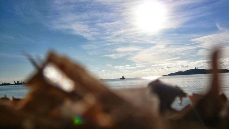 Depuis la plage de Pinarello