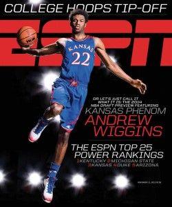 Wiggins' cover on ESPN Magazine, October 2013