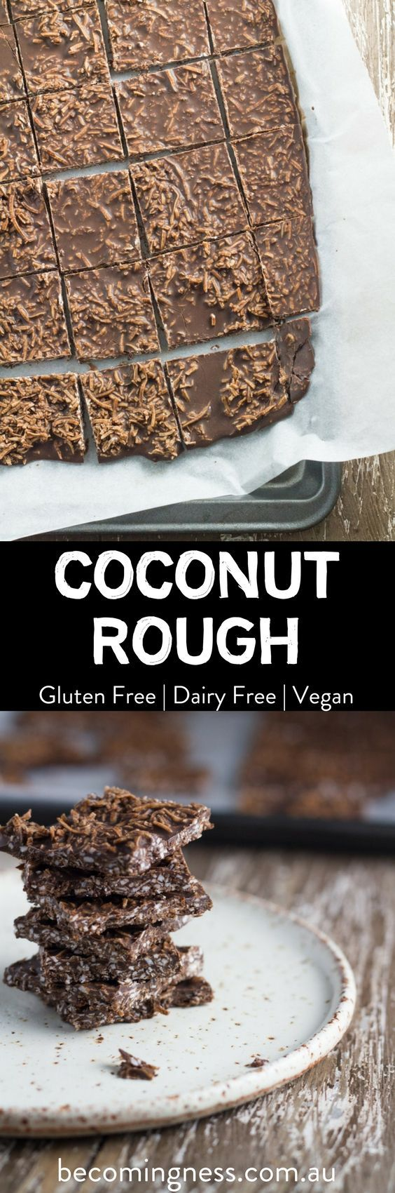 Coconut Rough is really easy to whip up and is made with only four ingredients. Best of all, both my kids LOVE it!