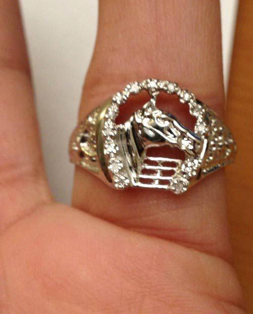 Best 25 Horseshoe ring ideas on Pinterest