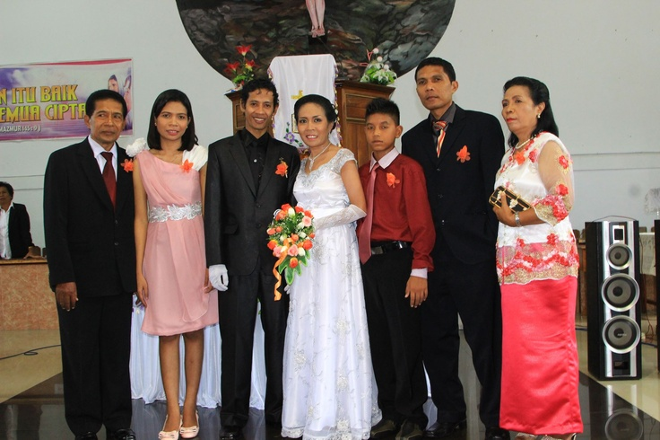 at my lovely sista wedding day