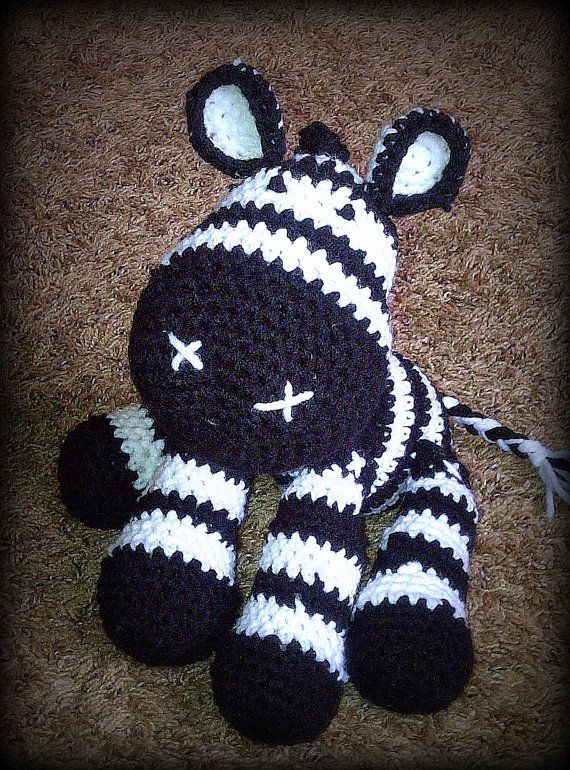 Crochet Zebra : Crochet Zebra Plush by nikkiwestcott on Etsy, $20.00