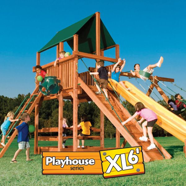 the playhouse xl 6u0027 wood set combo has something for everyone play