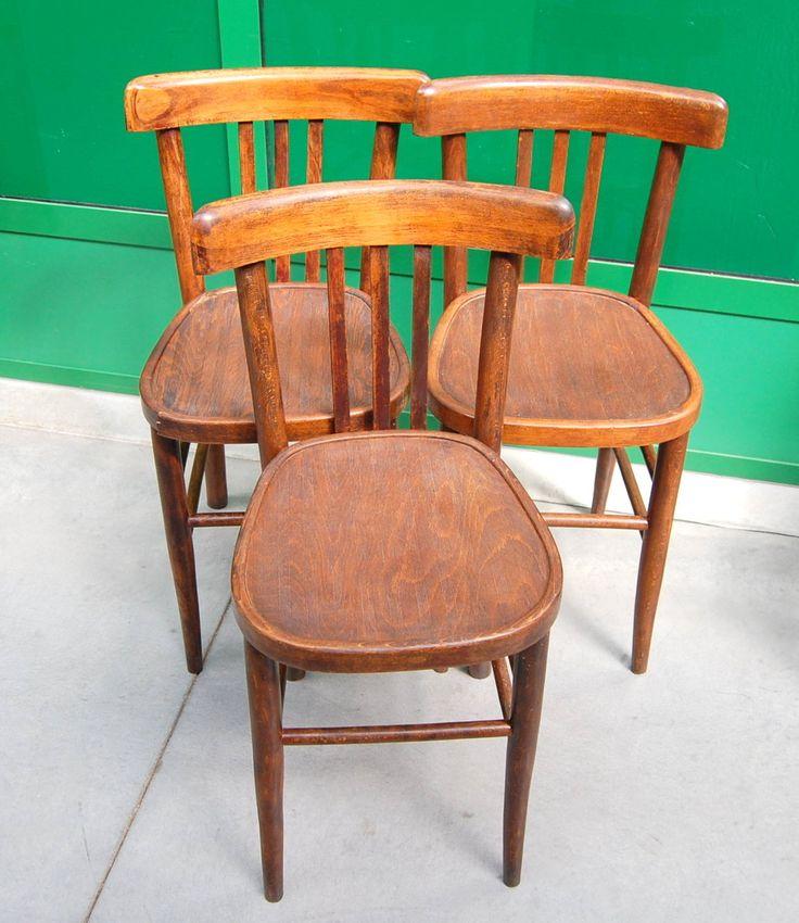 3 sedie in faggio inizio '900