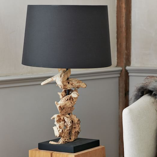 Wood knot table lamp