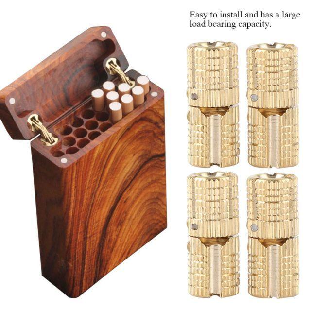 4Pcs//pack8mm Brass Cabinet Hidden Barrel Hinge Invisible Hinge Concealed Worktop