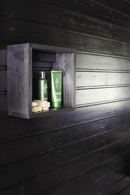 Sauna shelf idea