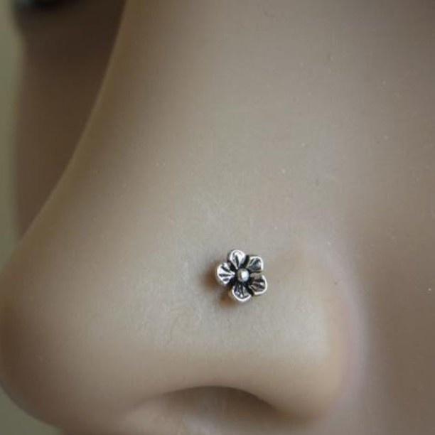 flower nose earrings