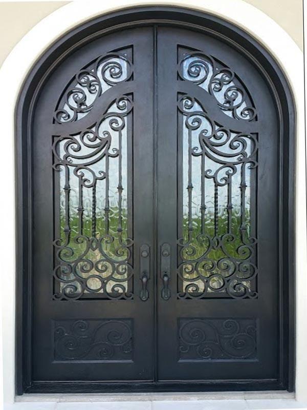 Iron Door 01 Lionirondoors Com Lion Iron Doors With Images