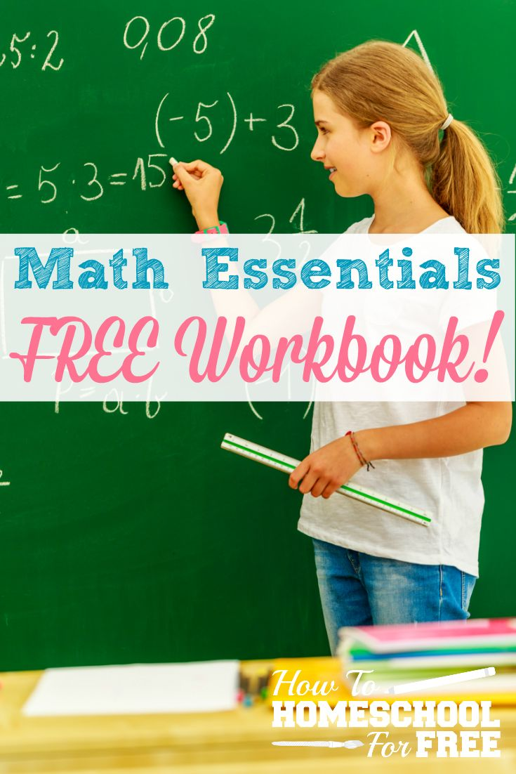 Here is an awesome FREE printable workbook on mastering math essentials: whole…