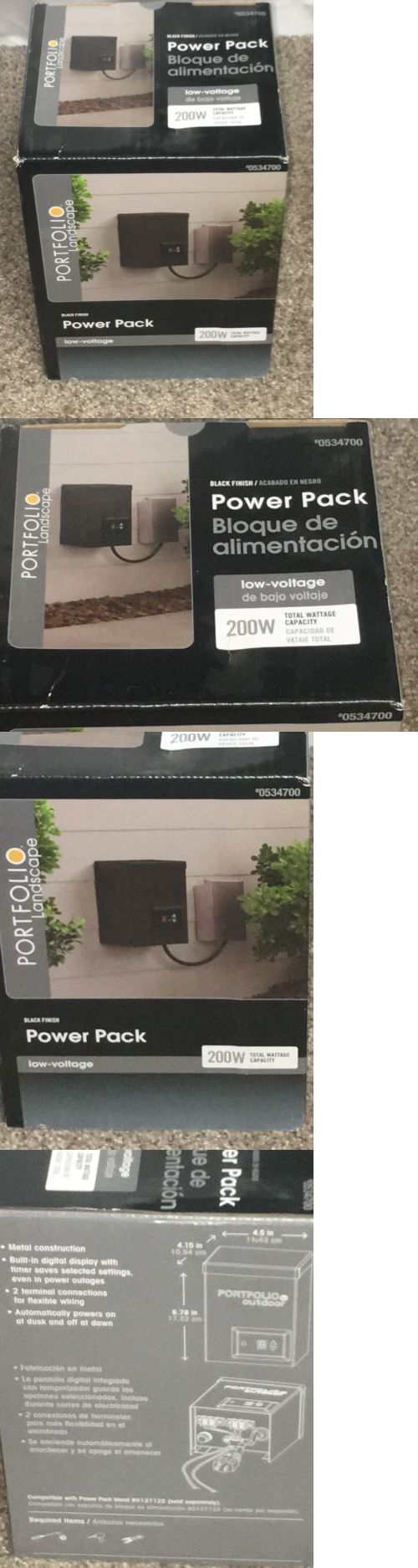Landscape and Walkway Lights 94940: Portfolio Outdoor Landscape Low Voltage Lighting Light Power Pack 200W 12V New -> BUY IT NOW ONLY: $52 on eBay!