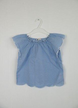 À vendre sur #vintedfrance ! http://www.vinted.fr/mode-enfants/chemises-manches-courtes/45358973-blouse-rayee-bleu-et-blanche-hm