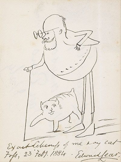Edward Lear (1884):  http://www.guardian.co.uk/artanddesign/gallery/2012/sep/20/edward-lear-200-years-in-pictures#/?picture=396378379=1