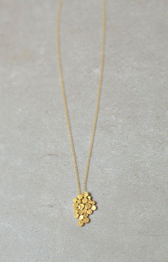 Gold cluster necklace, Valentine gift, gold fill chain, studio baladi, delicate, gold bunch, bride necklace, wedding, designer necklace