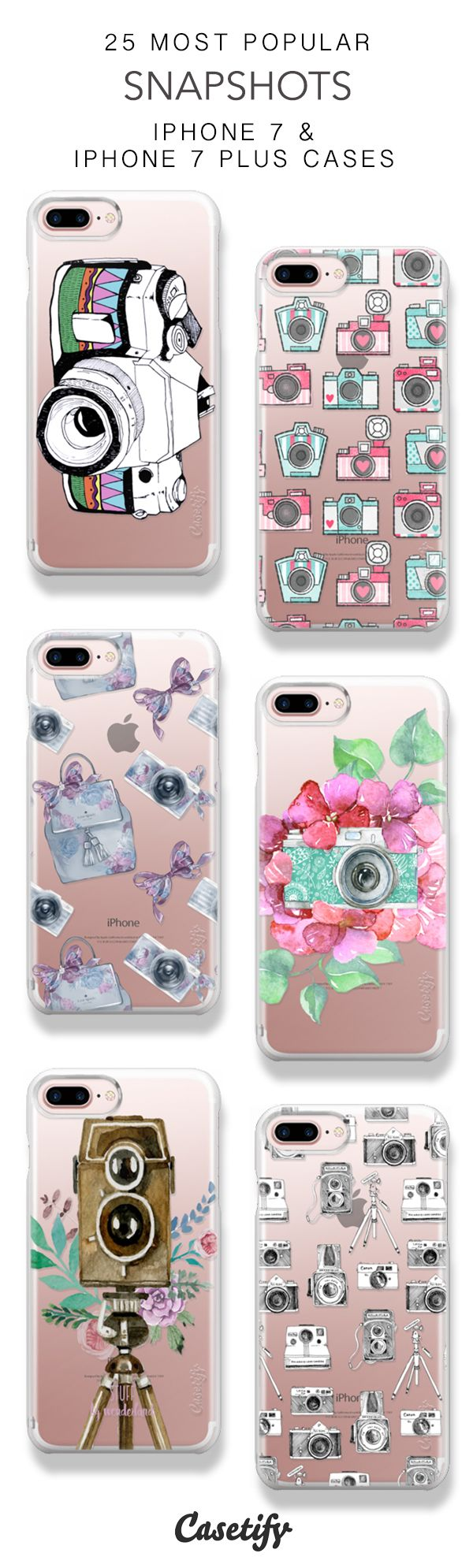 25 Most Popular Snapshots Protective iPhone 7 Cases and iPhone 7 Plus Cases. More Camera iPhone case here > https://www.casetify.com/collections/top_100_designs#/?vc=zMTs5lenP9